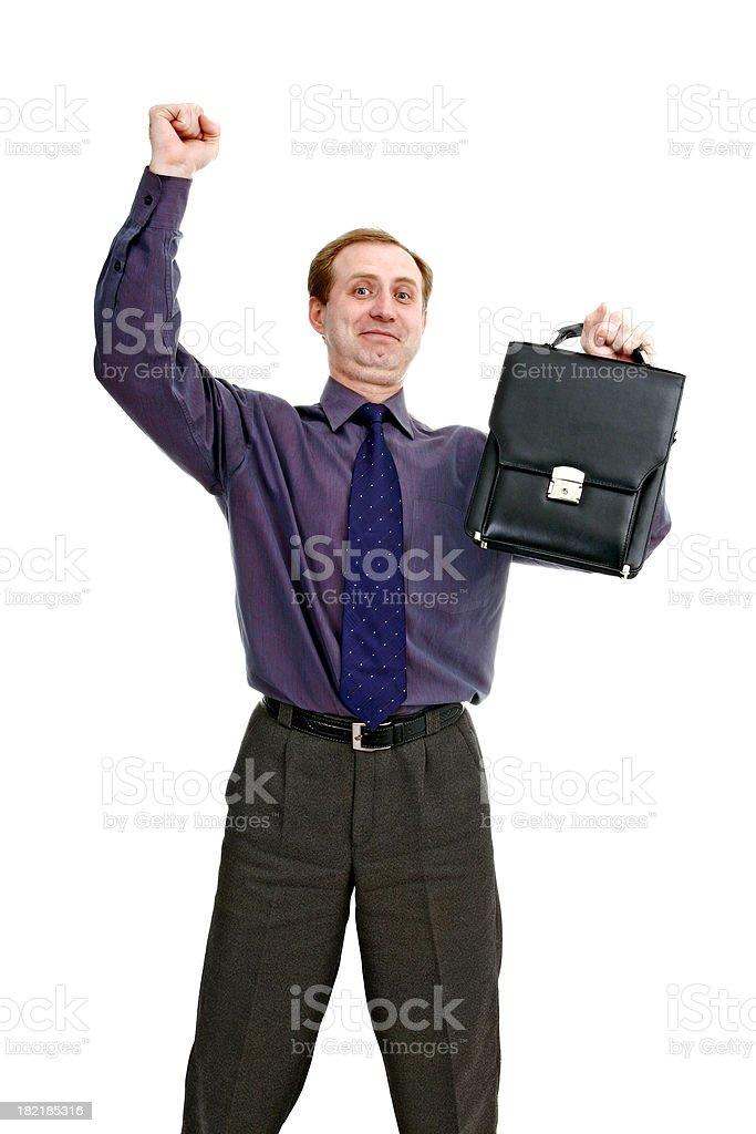 Got a promotion! stock photo