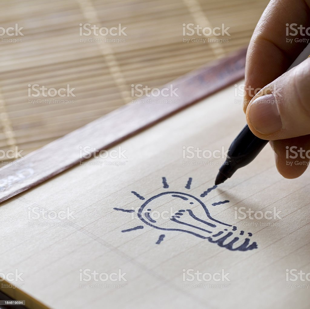 Got an idea! royalty-free stock photo