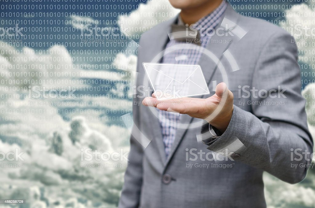 Got email from cloud computing stock photo