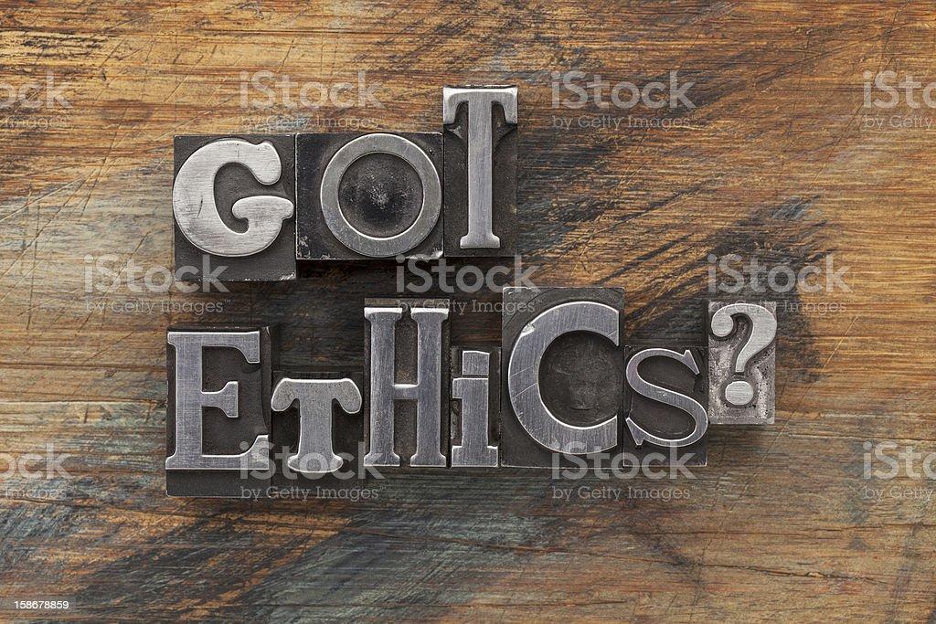 Got ethics question stock photo