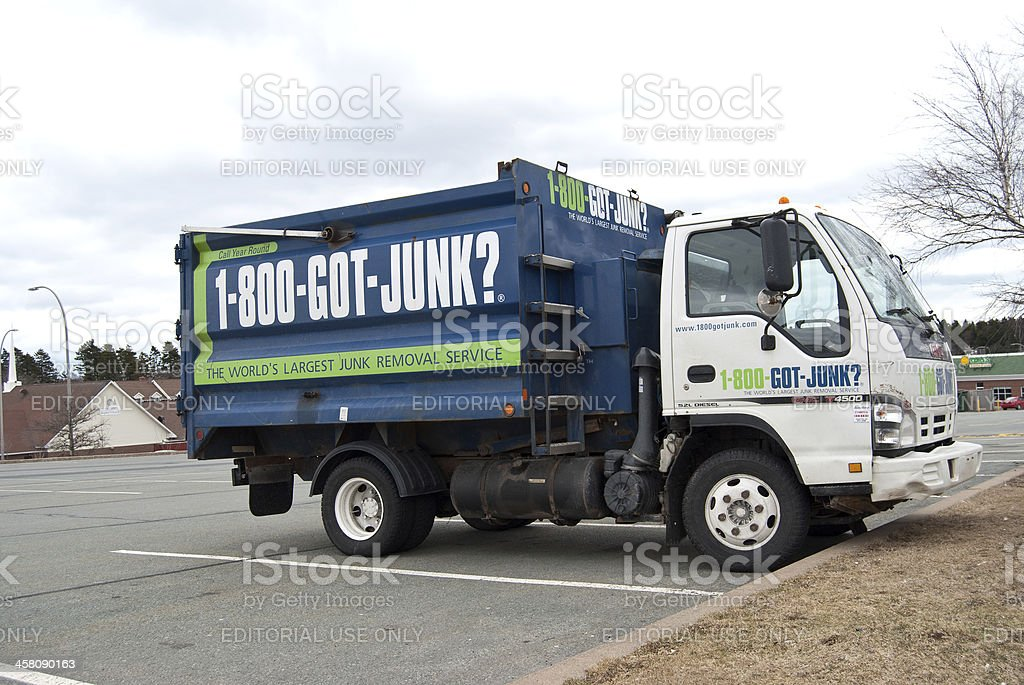 Got Junk Commercial Truck stock photo