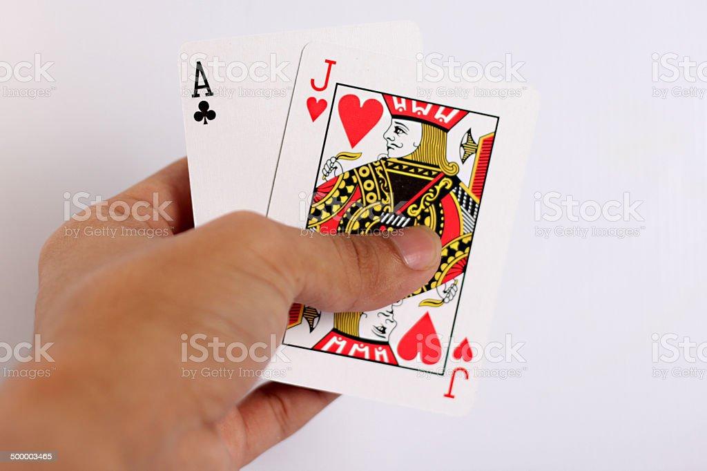 got the blackjack stock photo