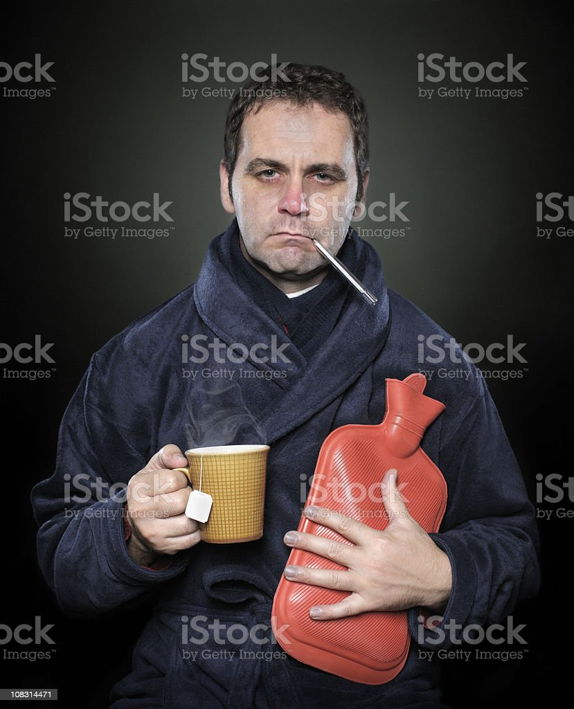Got the damn flu stock photo
