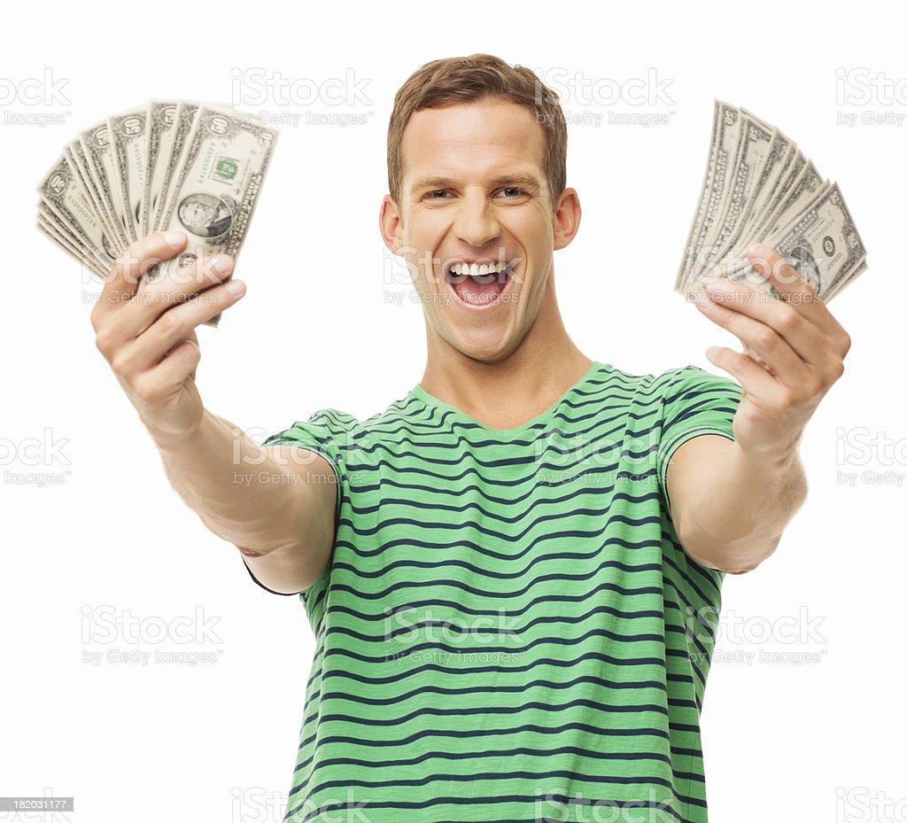I Got the Money - Isolated royalty-free stock photo
