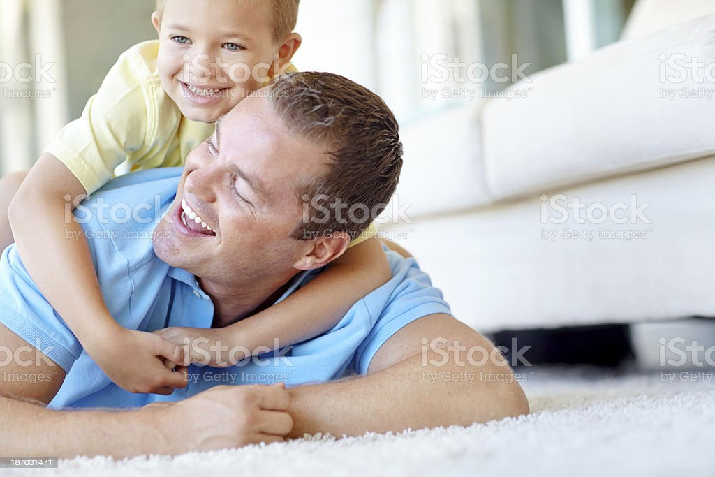 Got you, dad! royalty-free stock photo