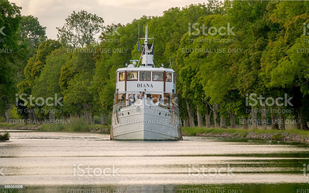 Gota canal tour boat stock photo