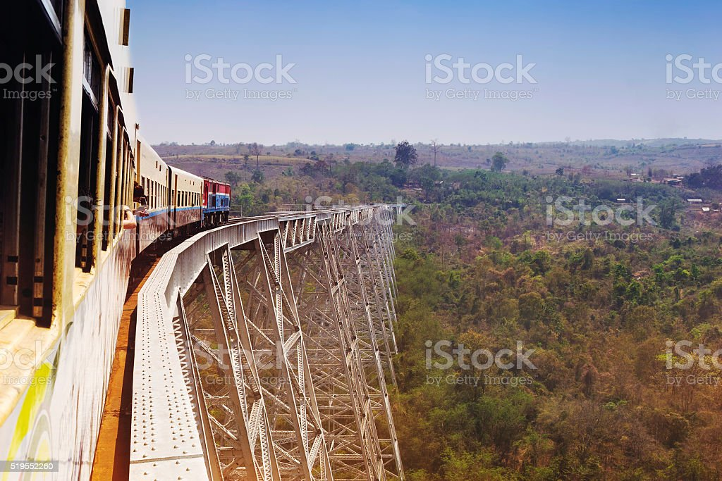 Goteik Viaduct, Shan State, Myanmar (Burma) stock photo