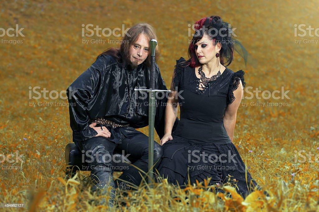 Goth couple royalty-free stock photo