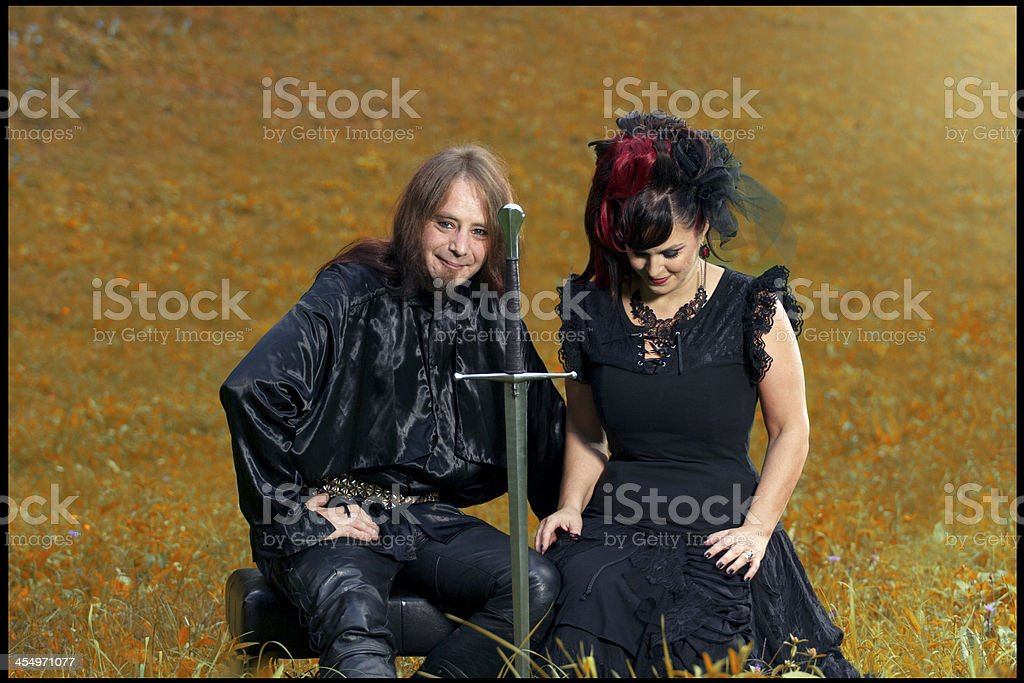 Goth couple royalty-free stock photo