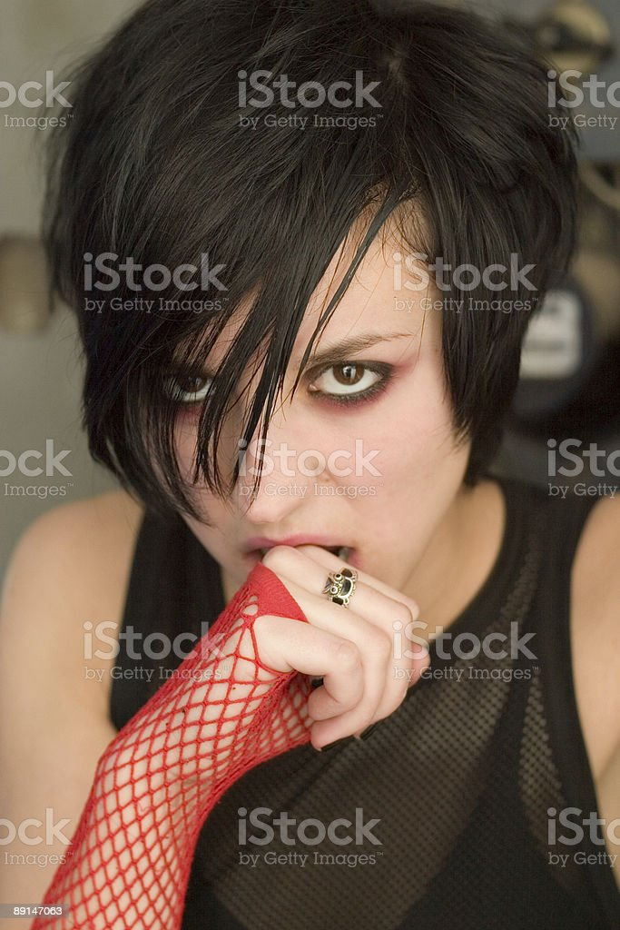 goth girl royalty-free stock photo