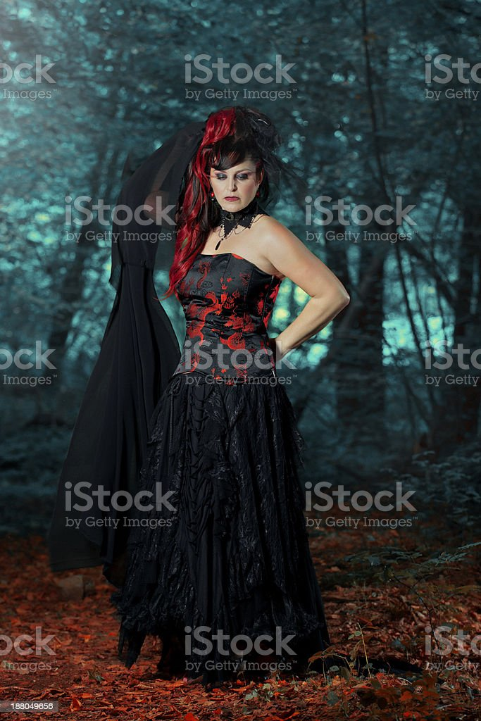 Goth queen royalty-free stock photo