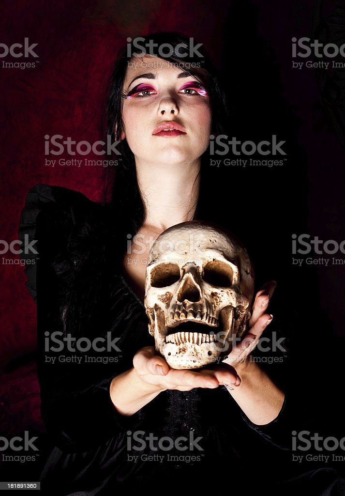 Goth Woman royalty-free stock photo