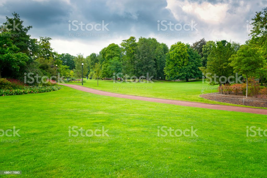 Gothenburg city Green Park area stock photo