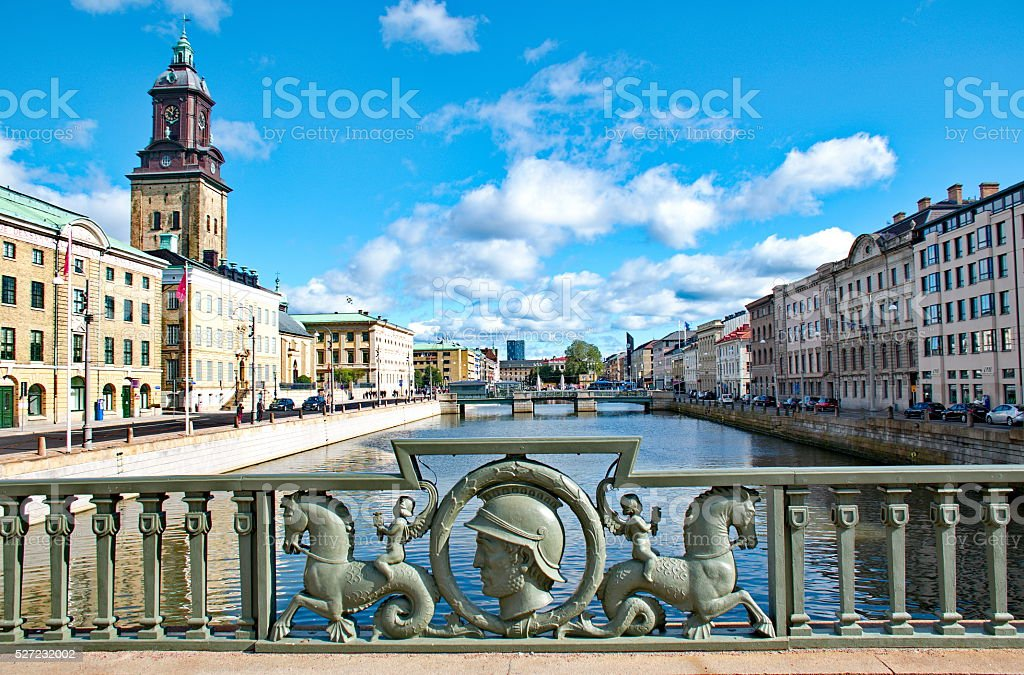 Gothenburg city in Sweden stock photo