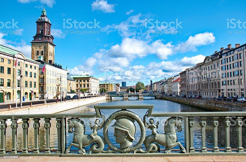 Gothenburg city in Sweden stock photo