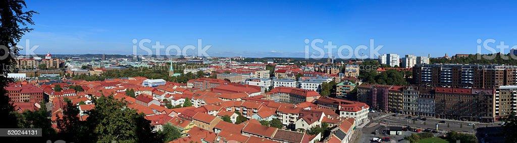 Gothenburg panorama stock photo