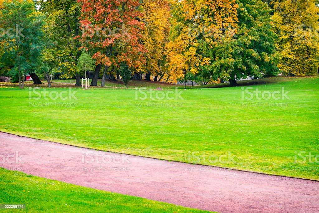 Gothenburg Park in beautiful colors stock photo