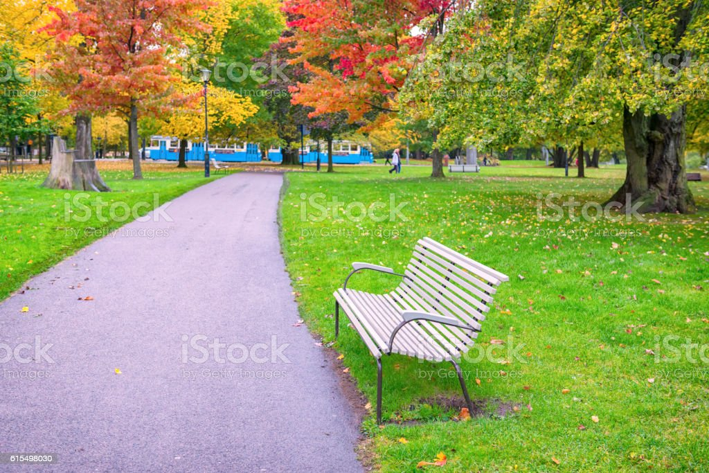 Gothenburg park in fall stock photo
