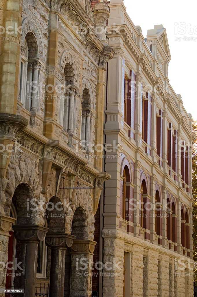 Gothic and Colonial architecture stock photo