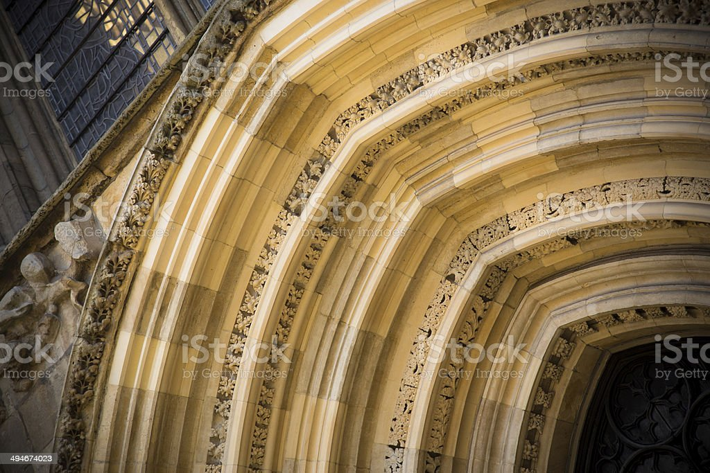 Gothic Arch at York Minster royalty-free stock photo