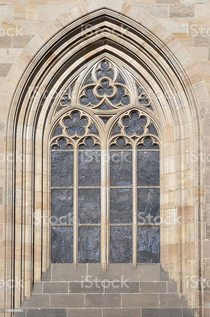Gothic arch stock photo