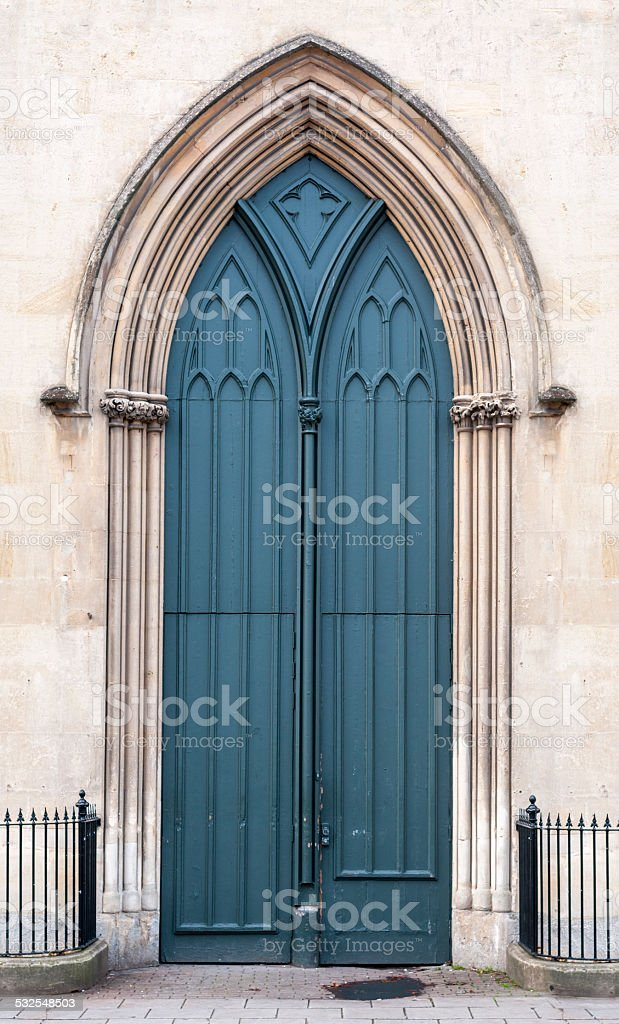 Gothic Arched Doorway stock photo