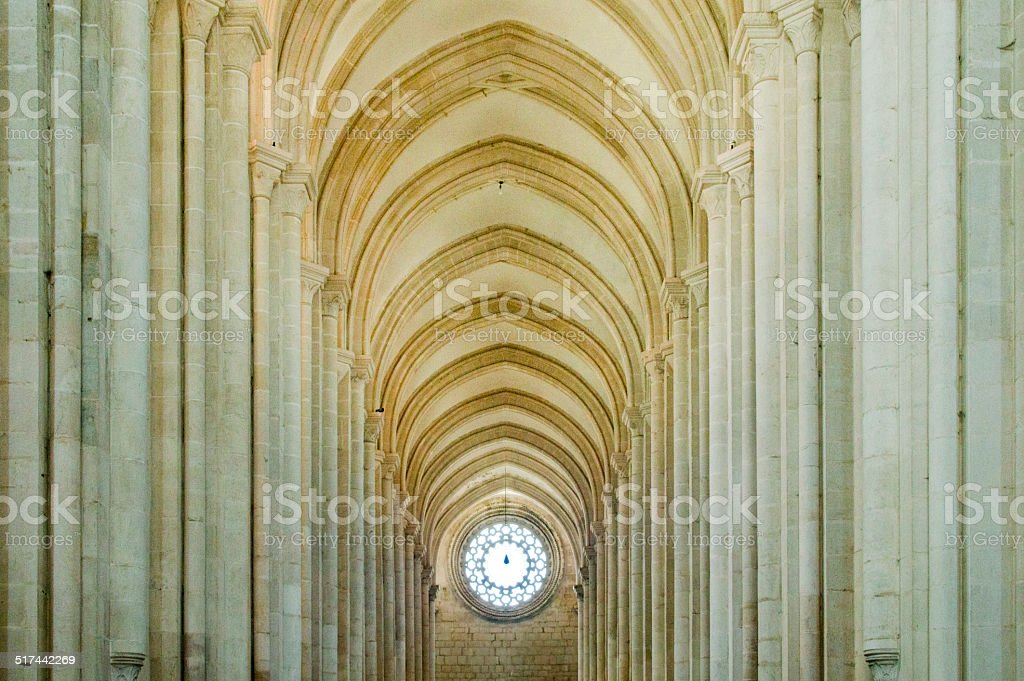 Gothic arches stock photo