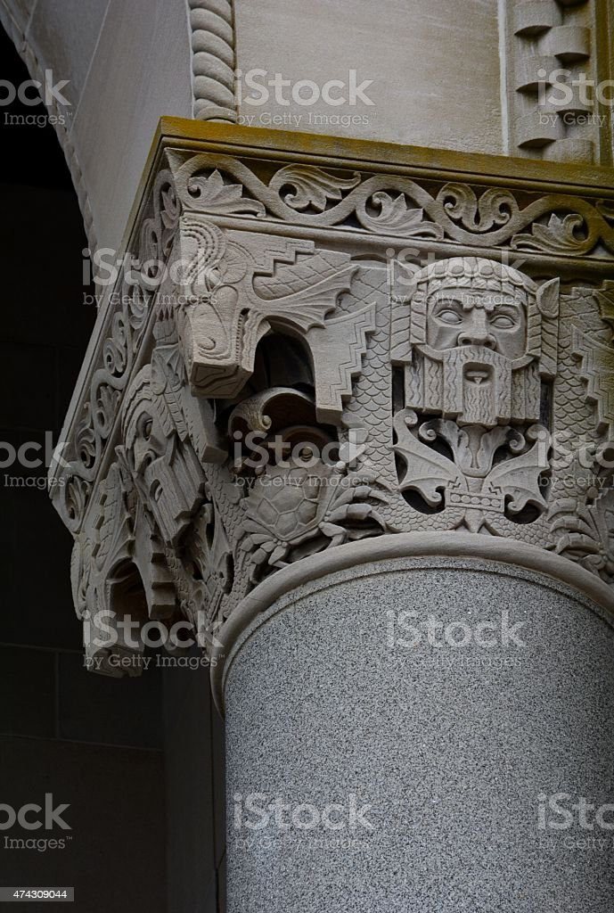 Gothic Architectural Column Detail stock photo