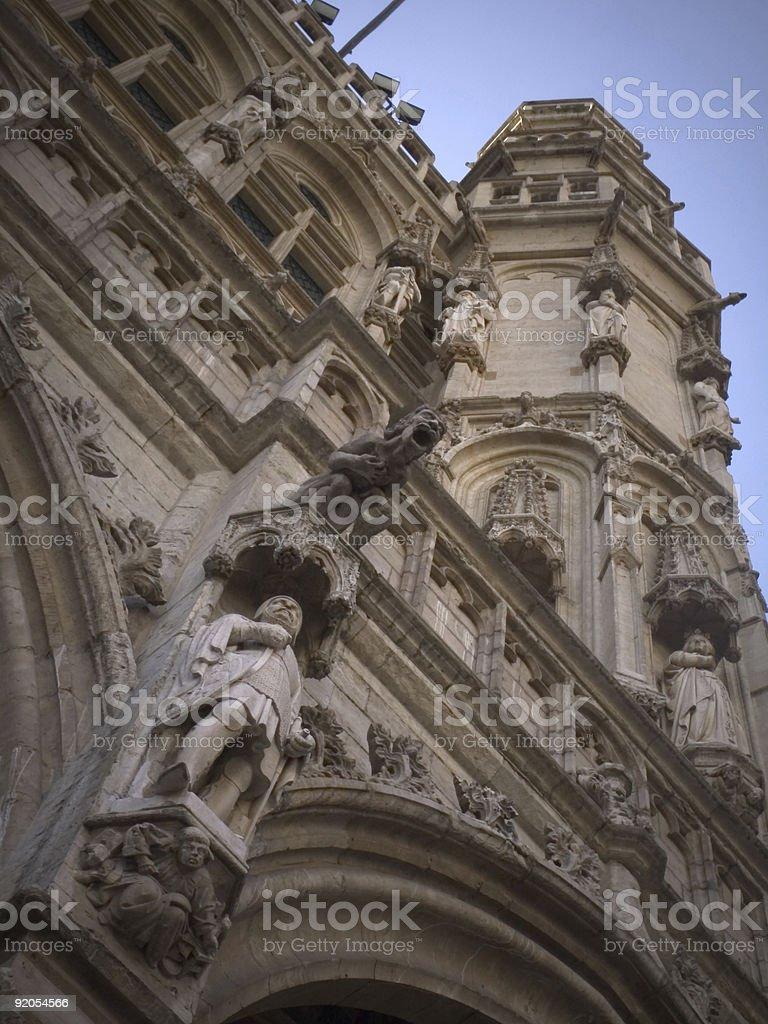 gothic architecture detailes royalty-free stock photo