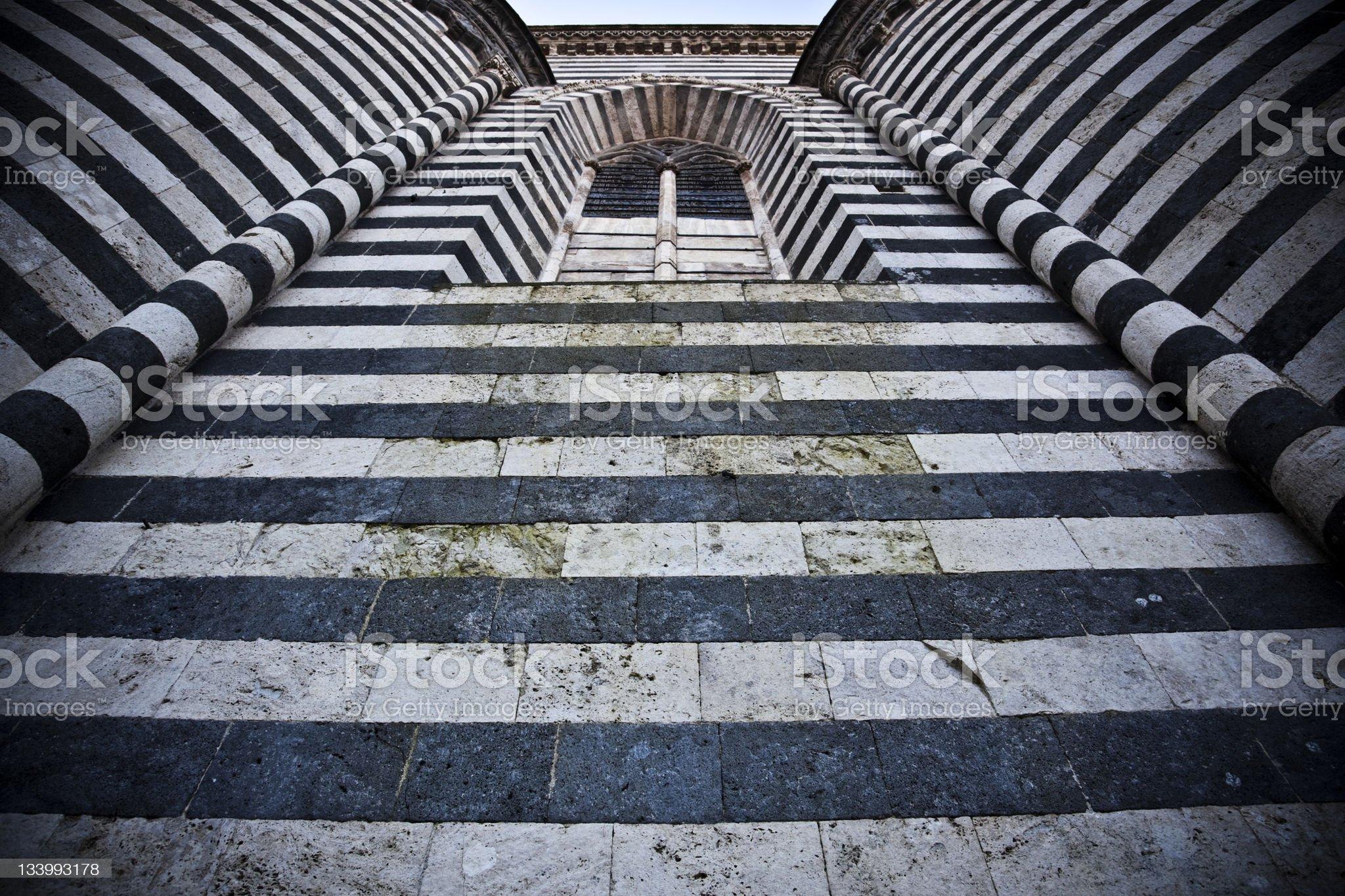 Gothic Architecture, Duomo of Orvieto, Italy royalty-free stock photo