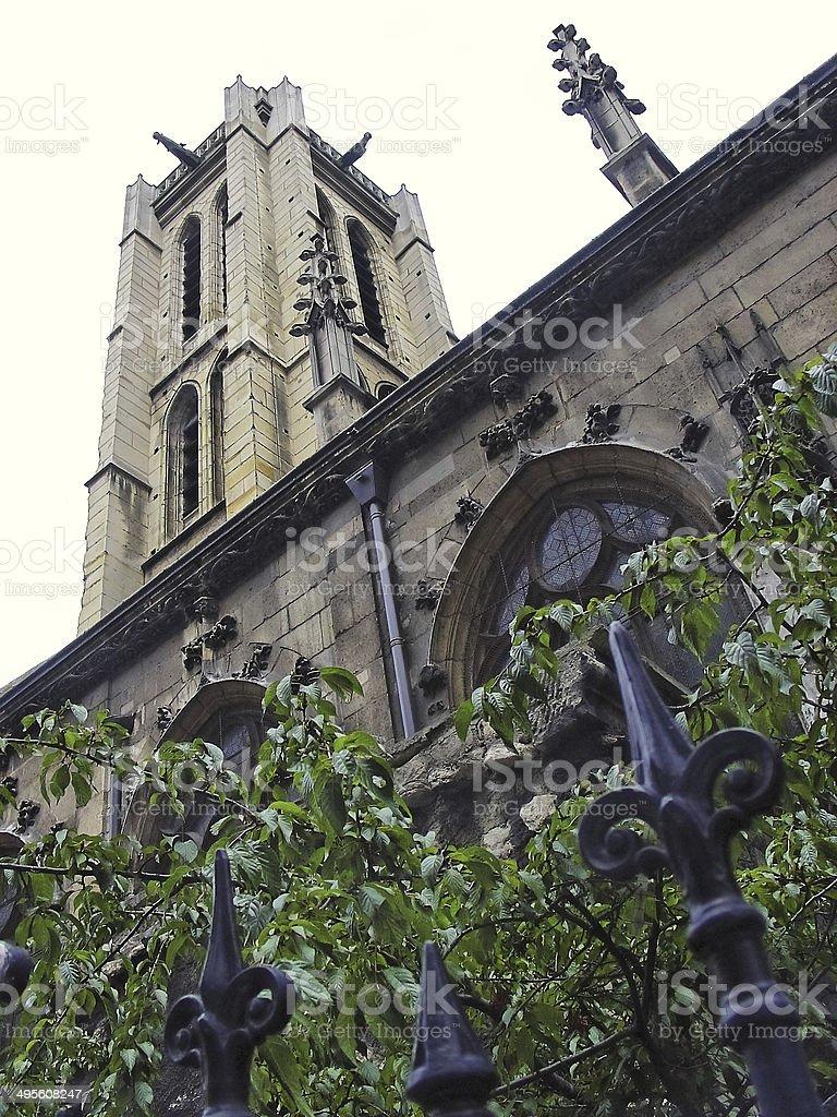 Gothic Architecture, Paris stock photo