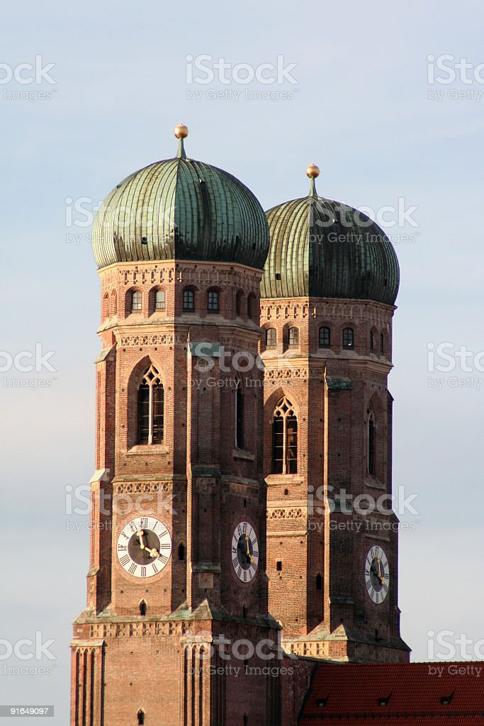 Gothic belltowers royalty-free stock photo