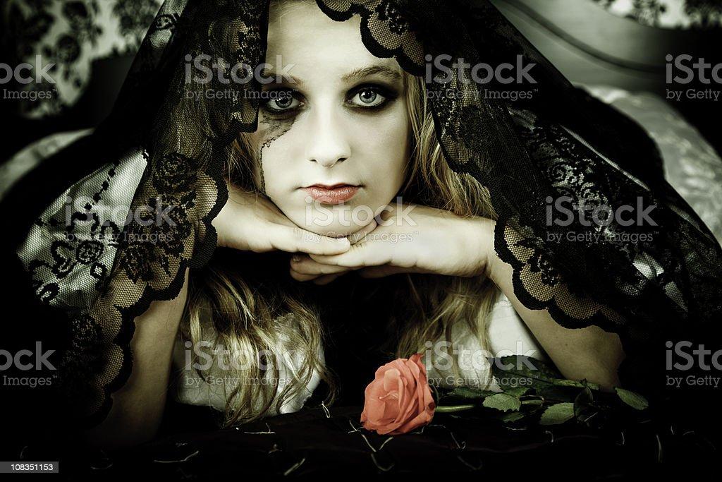 Gothic bride stock photo