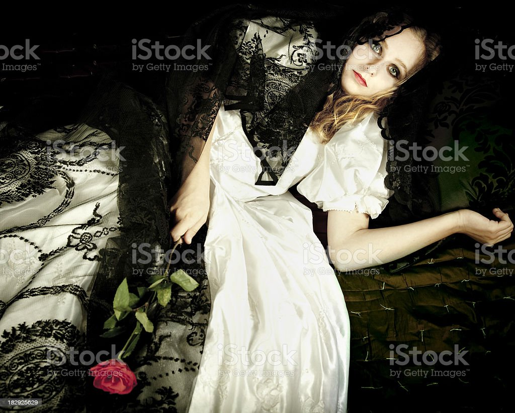 Gothic bride royalty-free stock photo