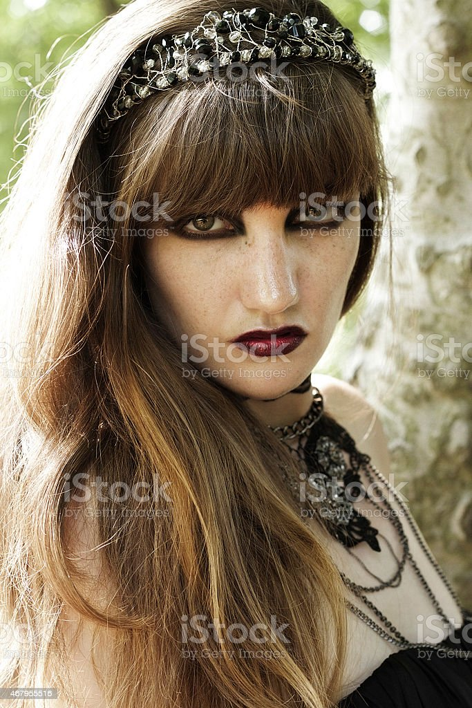 Gothic Bride stock photo