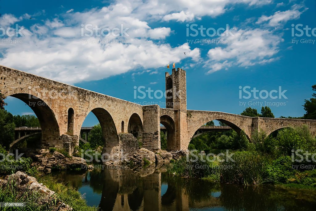 Gothic bridge stock photo