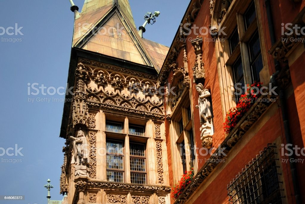 Gothic building of Town Hall stock photo