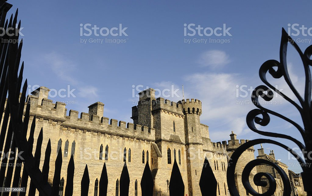 Gothic Castle, Cirencester stock photo