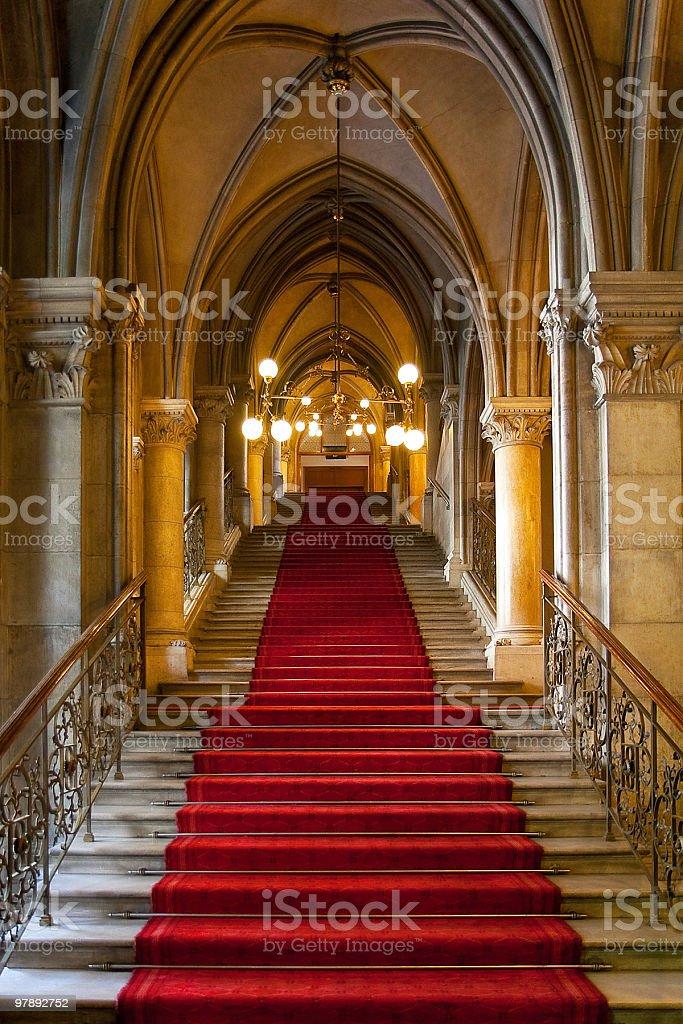 Gothic castle interior royalty-free stock photo