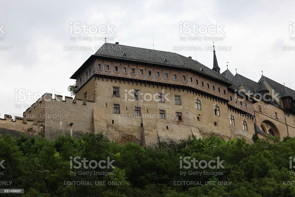 Gothic Castle Karlstein stock photo