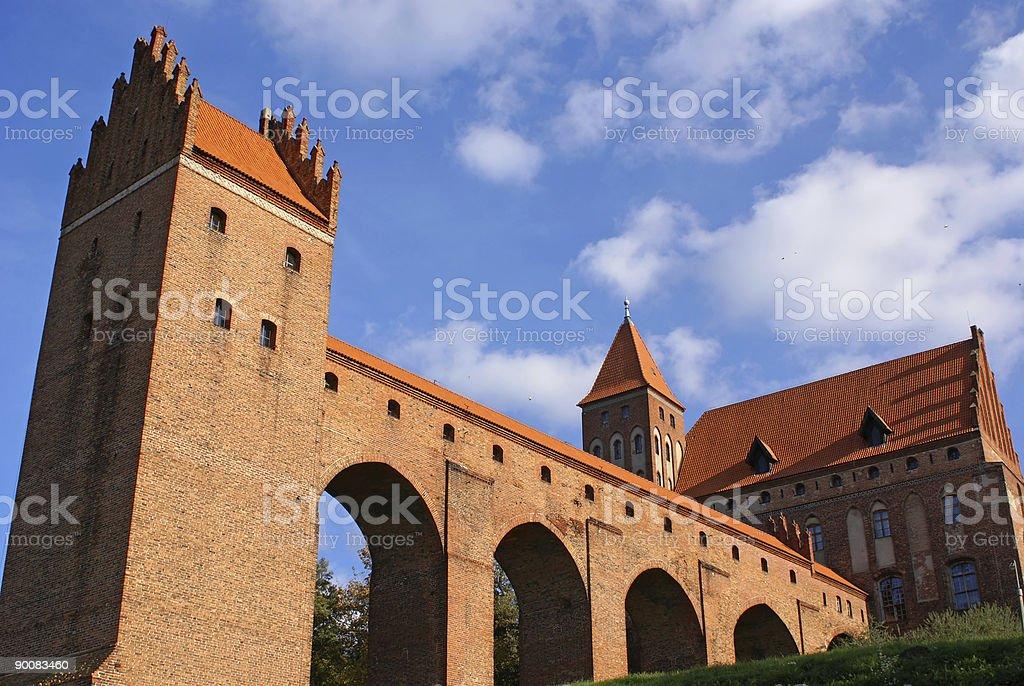 Gothic castle stock photo