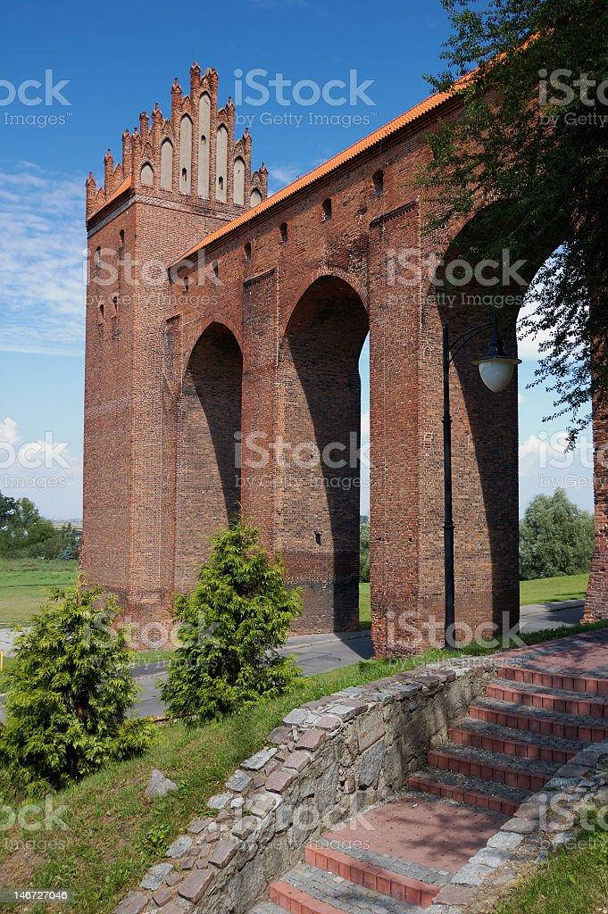 Gothic castle, Teutonic Order stock photo
