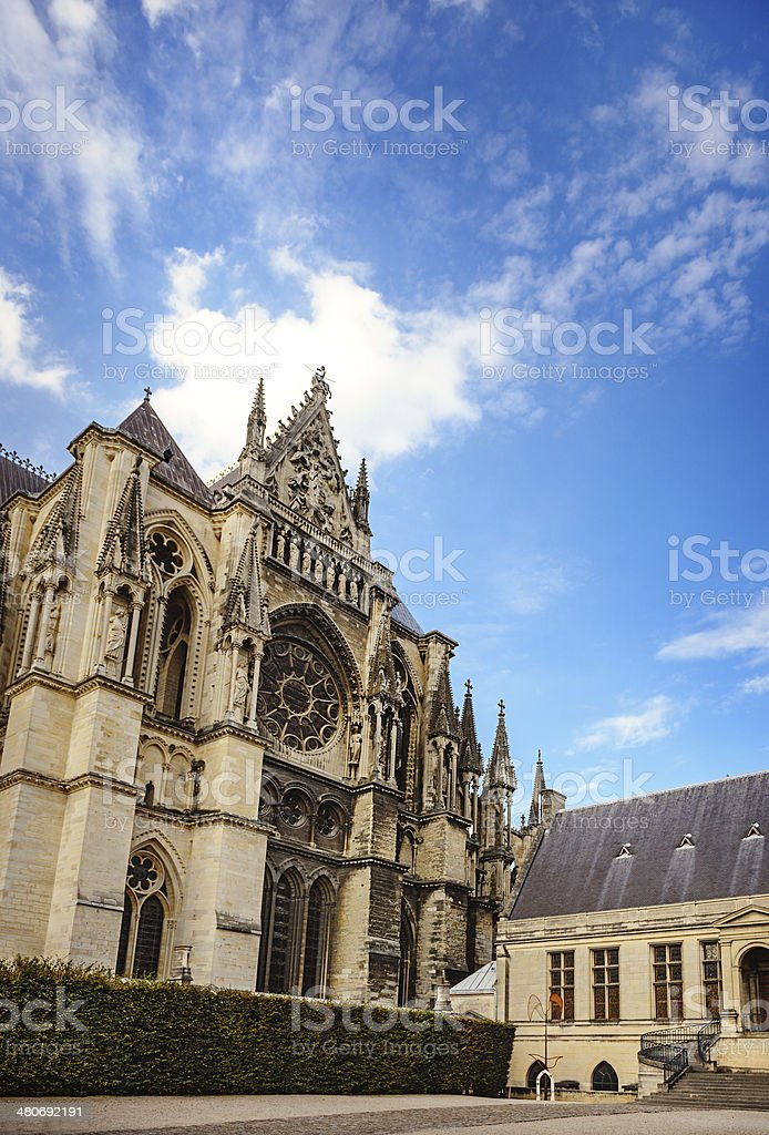 Gothic cathedral at Reims royalty-free stock photo