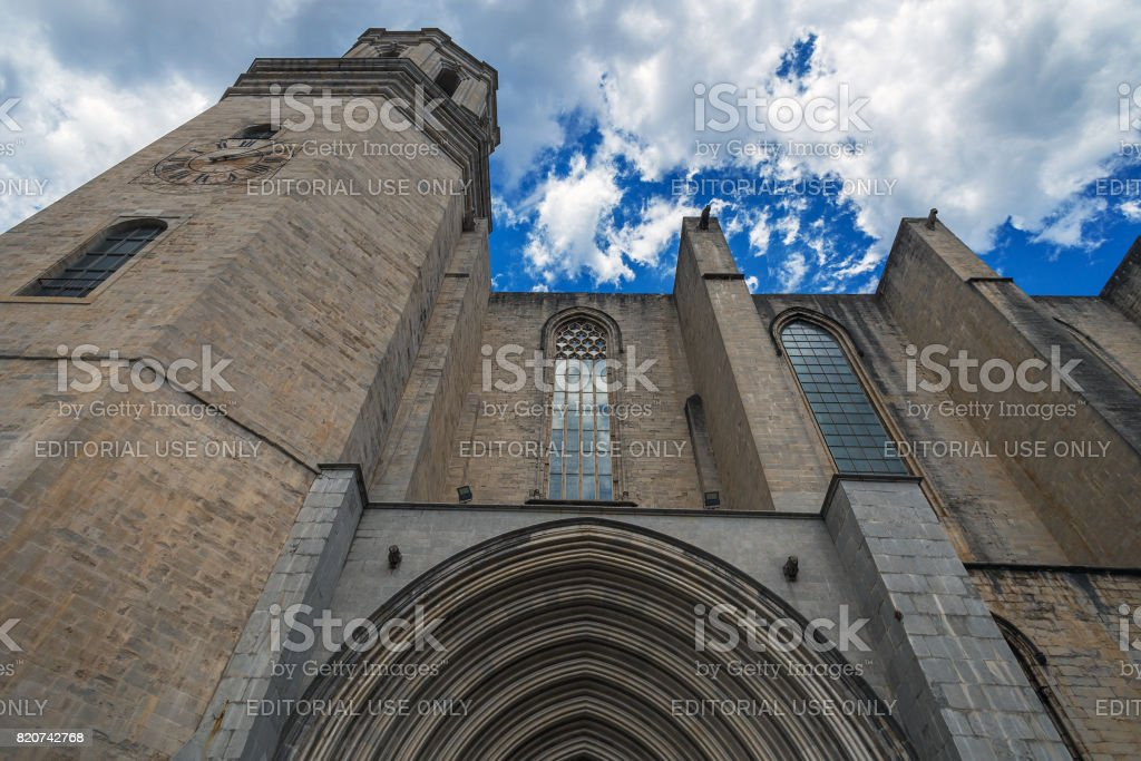 Gothic Cathedral Girona stock photo