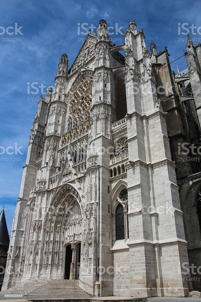 Gothic cathedral in Beauvais, France stock photo