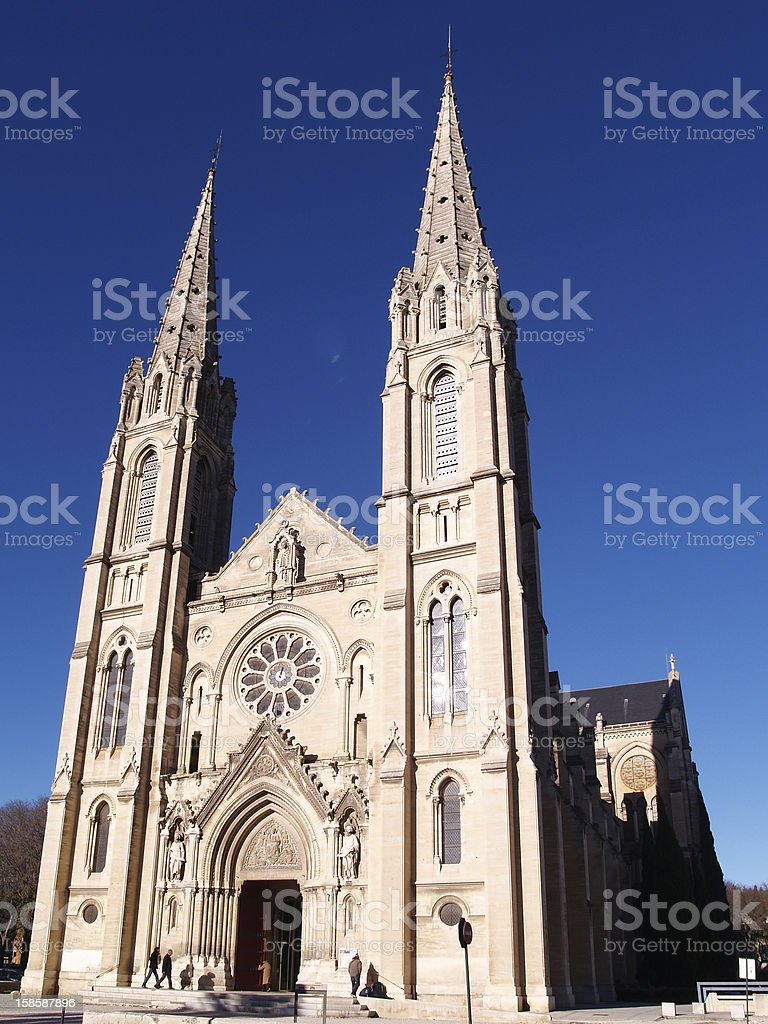 Gothic Cathedral in Nimes, France royalty-free stock photo