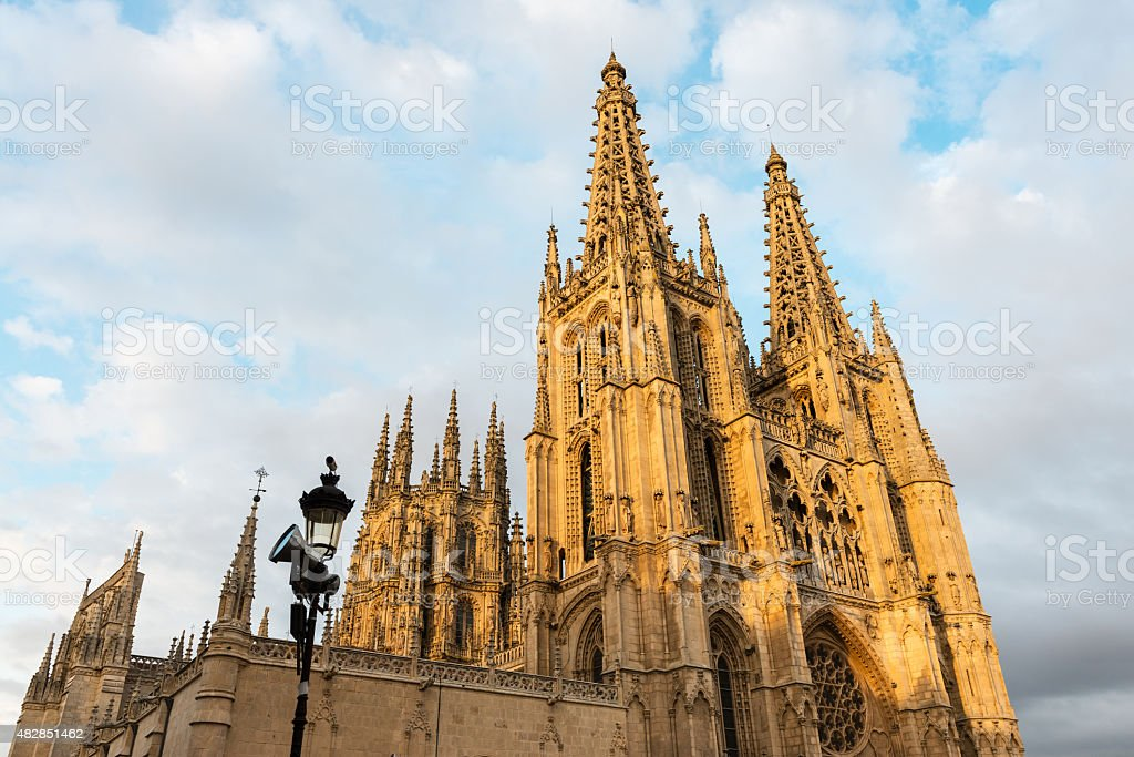 Gothic cathedral of Burgos, Spain stock photo