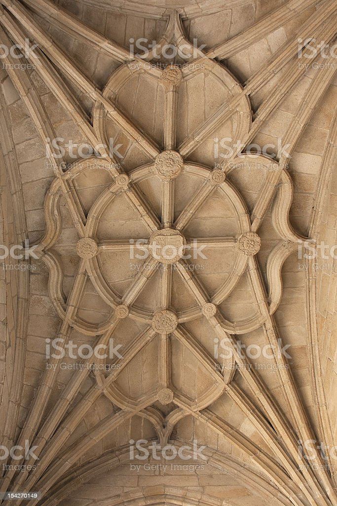 Gothic ceiling stock photo