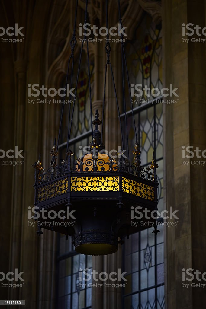 Gothic Chandelier stock photo