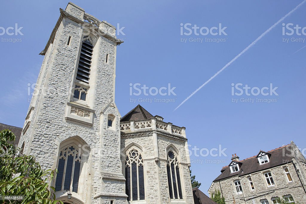 Gothic Church and Rectory royalty-free stock photo